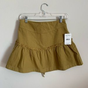 Free People Olive Green Skirt NWT